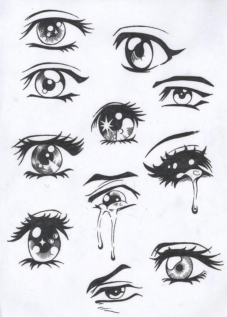 sad anime eyes