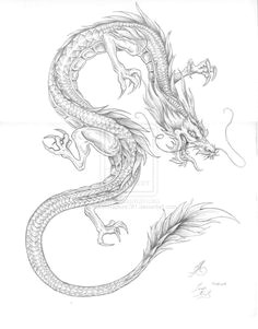 japanese dragon outline creative commons attribution noncommercial no derivative works 3 0