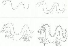 draw a dragon art class ideas