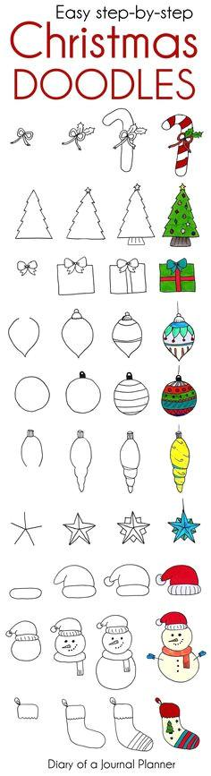 christmas doodles cute christmas bullet journal doodles to copy
