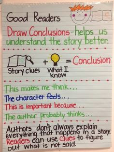i heart teaching drawing conclusions think and talk this through it may look harad but good readers and good thinkers can start to get the idea