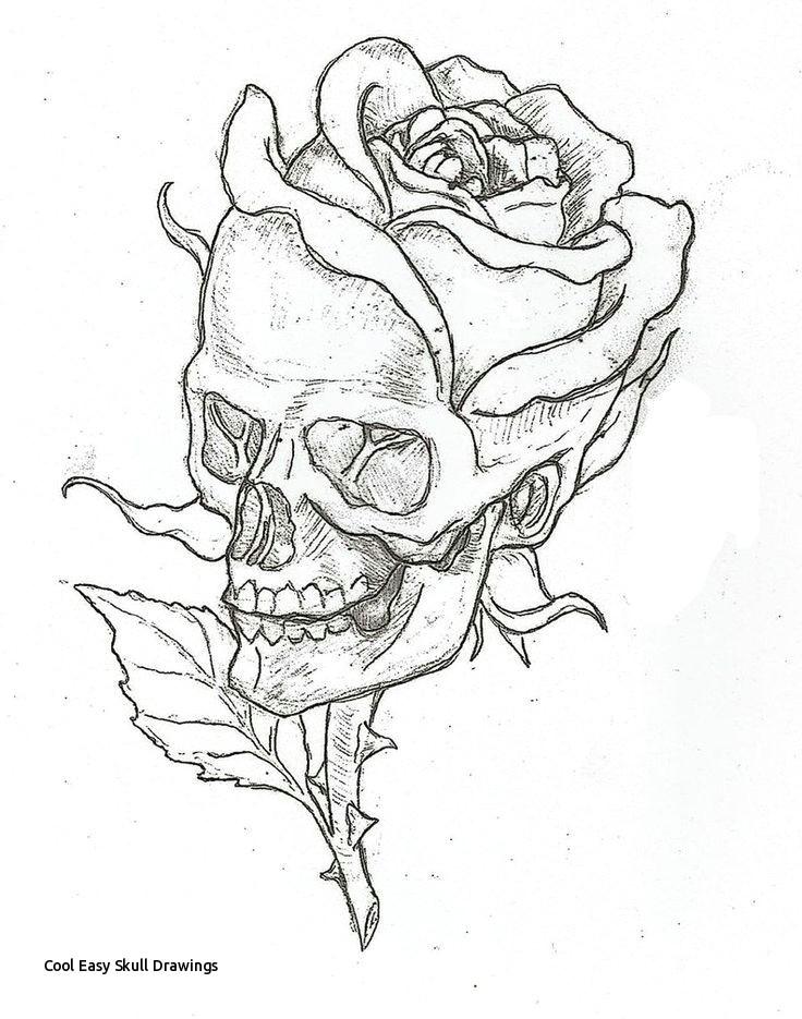 cool easy skull drawings scary skull drawing at getdrawings