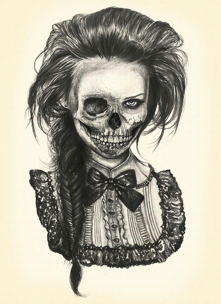 dead lady drawing
