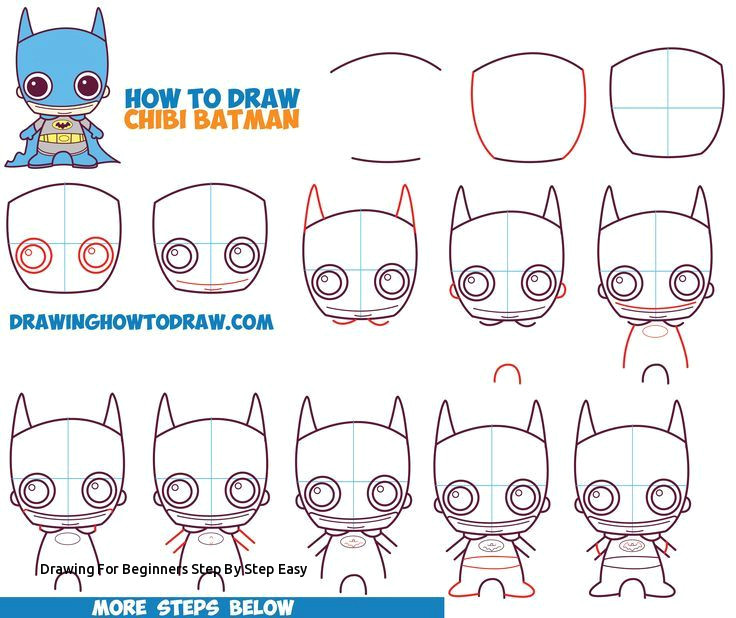 drawing for beginners step by step easy how to draw cute chibi batman from dc ics