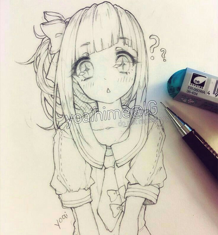 Drawing Cute Anime Girl Chibi Kawaiiiii Anime Girl Drawing Sketch In 2019 Pinterest Drawings