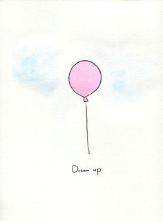 items similar to pink watercolor balloon painting on etsy