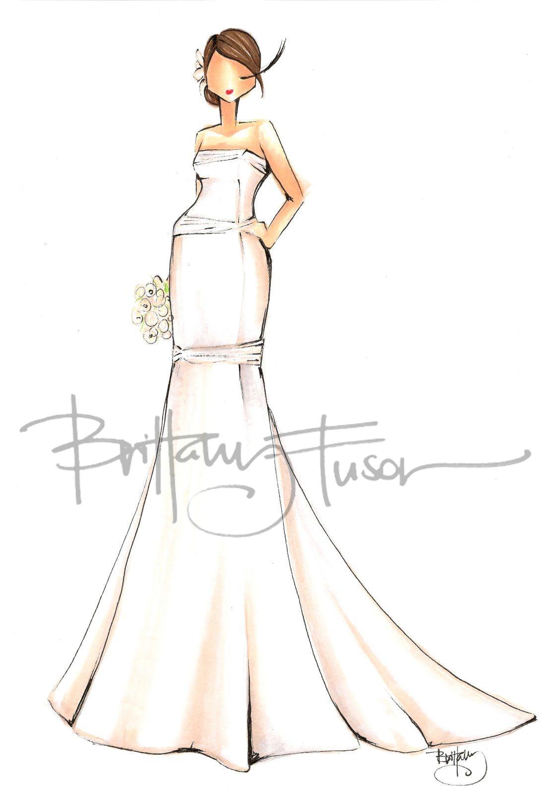 wedding illustration croquis cute drawings brittany fashion illustrations fashion art