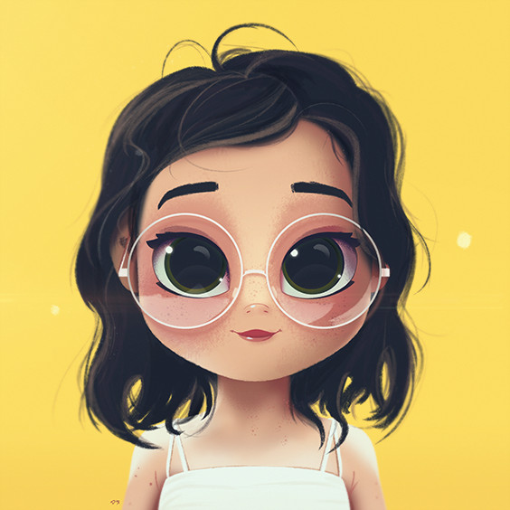 cartoon portrait digital art digital drawing digital painting character design drawing big eyes cute illustration art girl dodie