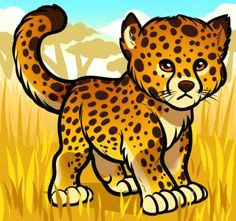 how to draw a baby cheetah he is so very very cute cheetah cartoon cartoon