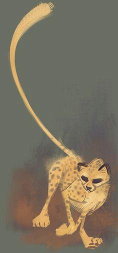 daily cat drawings cheetah drawingcat drawingcartoon