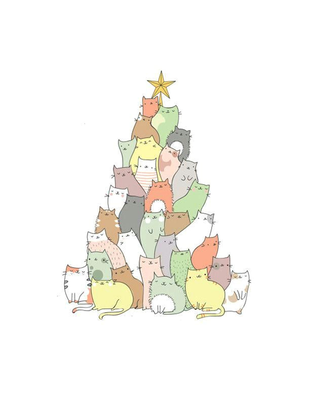 these cats form a better christmas tree than a normal tree affordablechristmasgifts2017