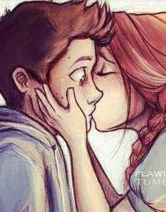 surprise kiss cute couple drawings love drawings art drawings couple art stydia