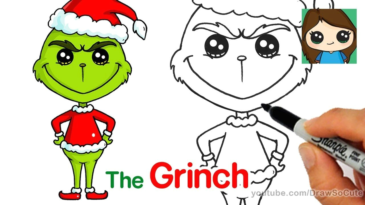 how to draw the grinch easy grinch drawing christmas drawing cute drawings drawing