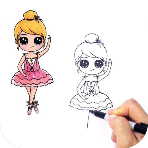 learn to draw cute girls