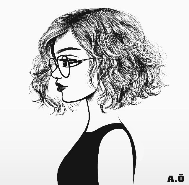 love how short and wavy her hair is pretty drawings of girls cartoon drawings of