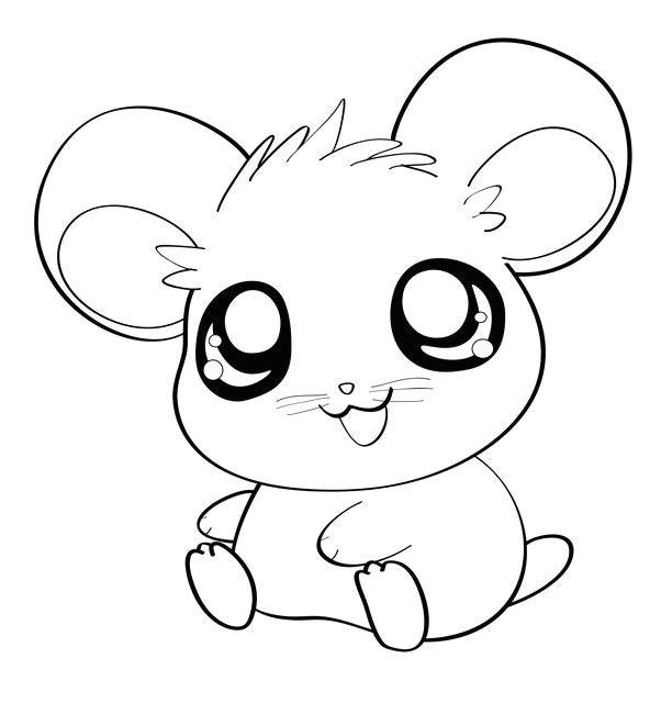 how to draw an anime hamster