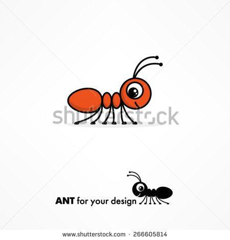 cute cartoon ant stock vector