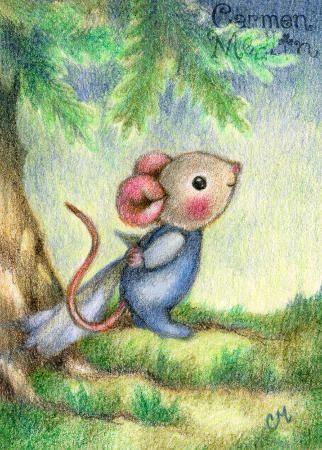 good morning cute mouse art by carmen medlin