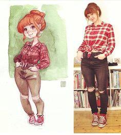 cute outfit by schmoedraws artshelp photo to cartoon art sketches art