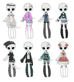 c custom outfits batch 2 by hunibi oc drawings cute drawings