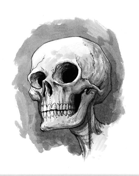 cute skull illustration