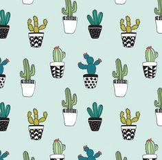 cute cactus fabric cacti by kellytucker mod cartoon cactus cactus pot cacti cactus fabric