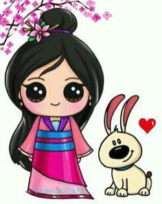 mulan disney drawings kawaii drawings cartoon drawings cute chibi kawaii girl