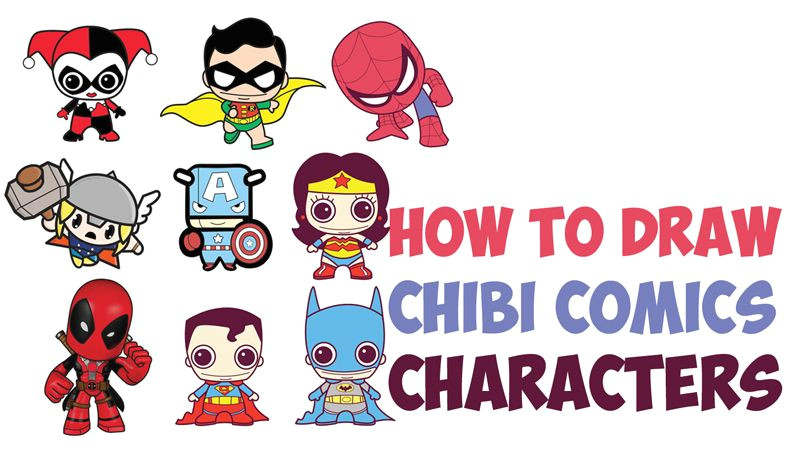 okay we have posted a lot of cute chibi kawaii styled super heroes and comic book characters lately so i figured i would combine them all into one