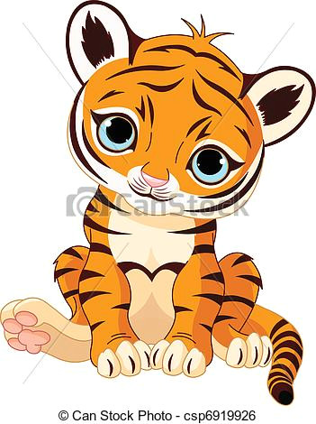 cute tiger cub csp6919926