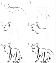 another how i draw wolf drawingscartoon