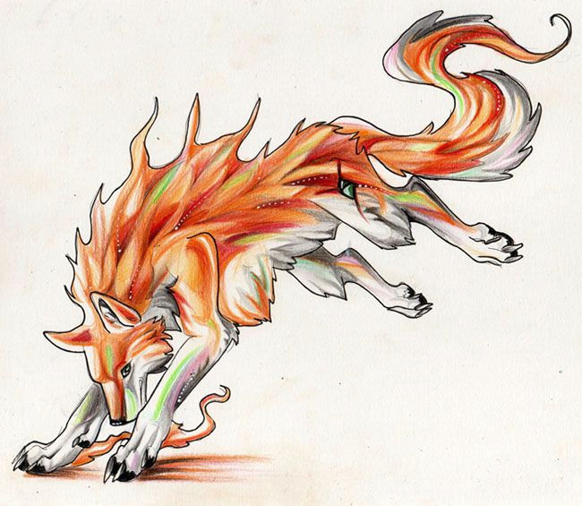 anime wolf drawing colors of fire werewolf art fantasy wolf wolf design