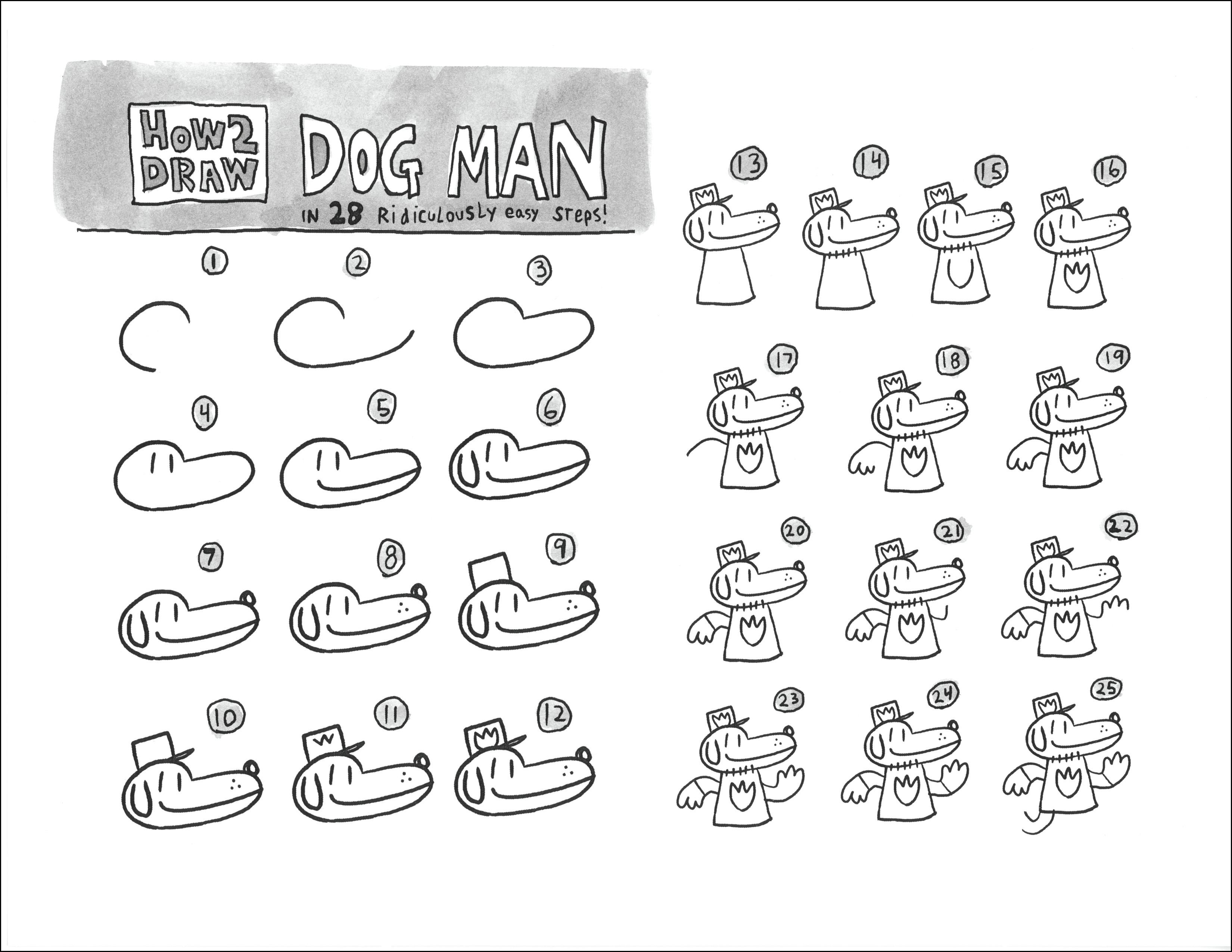 Drawing Dog Man Characters Dog Man