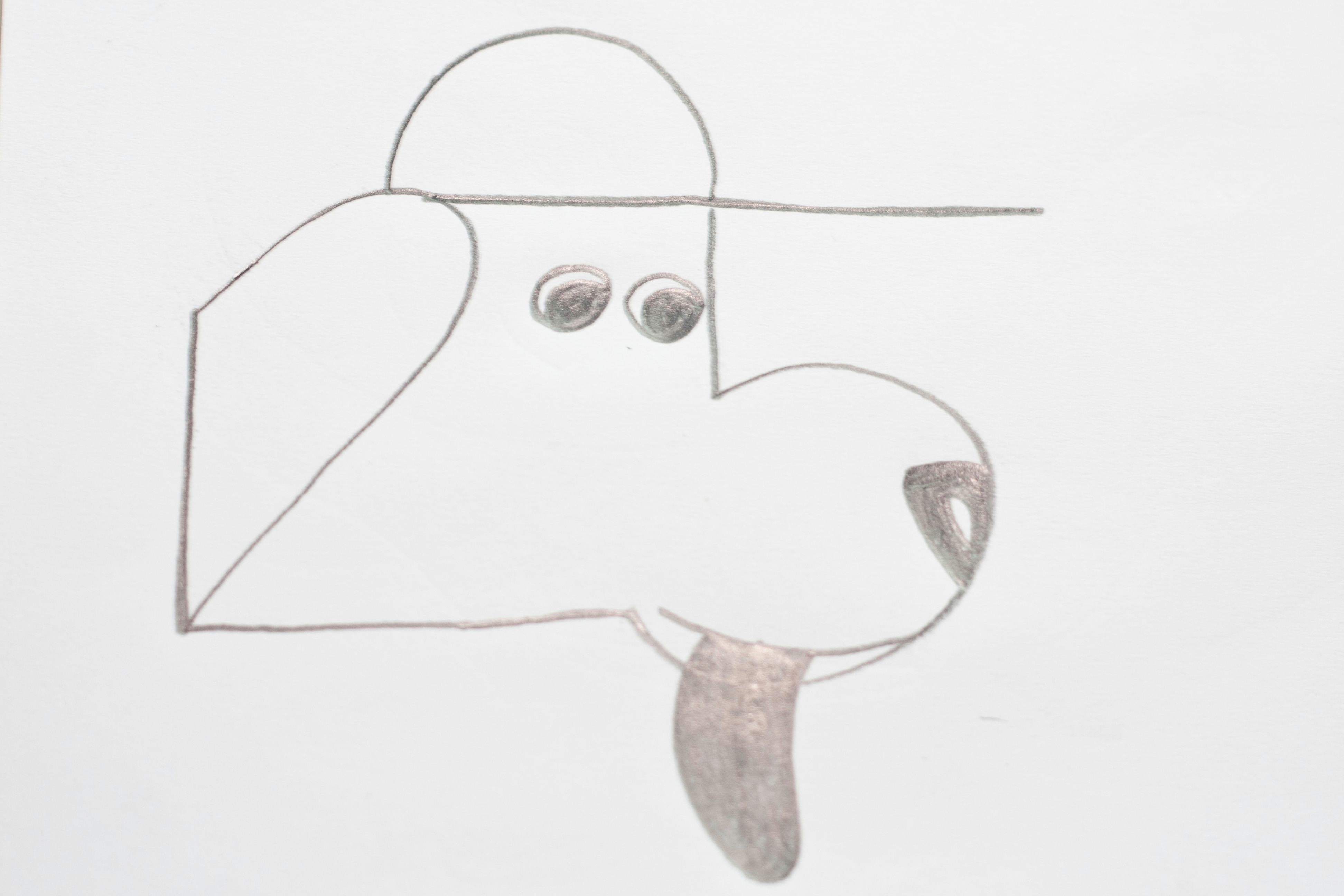 Drawing Dog Using Numbers How to Make the Number 25 Into A Dog Wearing A Cap 8 Steps