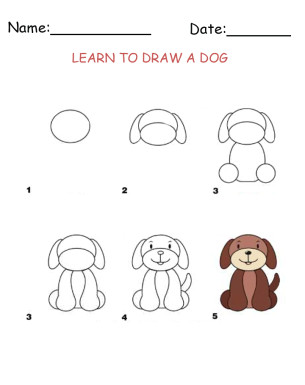 learn how to draw a dog with our free and fun activity sheets your kiddos are sure to love these give a like for learning