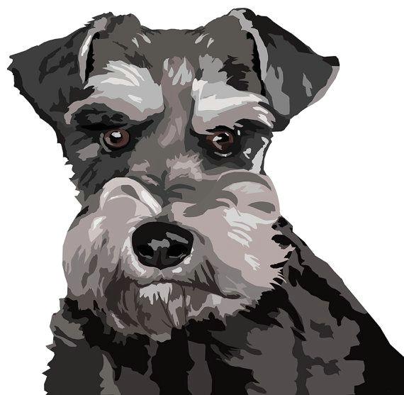 schnauzer sticker set van 2 stickers van watch4dogz op etsy schnauzer dogs animal drawings