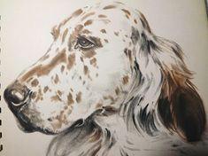 dog illustration vintage dog art animal print dog gift dog lover gift english setter diana thorne dogs dog portrait dog drawing wall art