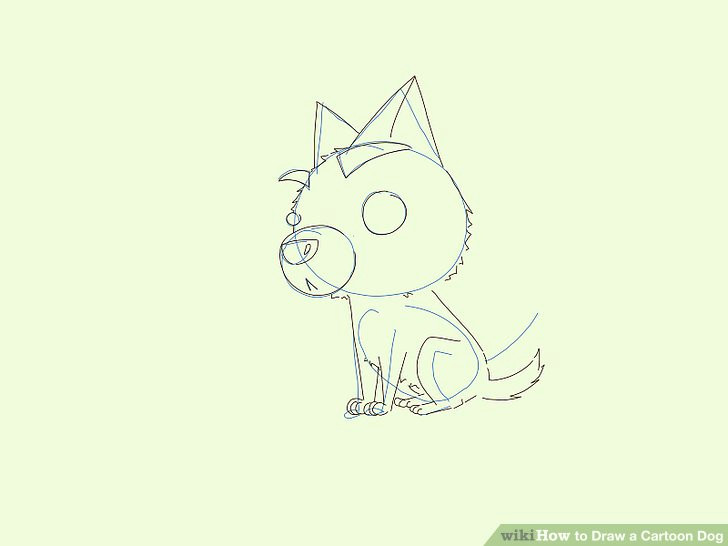 Drawing Dogs Face Cartoon 6 Easy Ways to Draw A Cartoon Dog with Pictures Wikihow