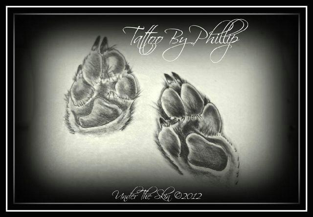 photo copied my dogs paw prints philip joann matthews theskin drew them to scale love tattoo tattoos tattoos dog paws drawings