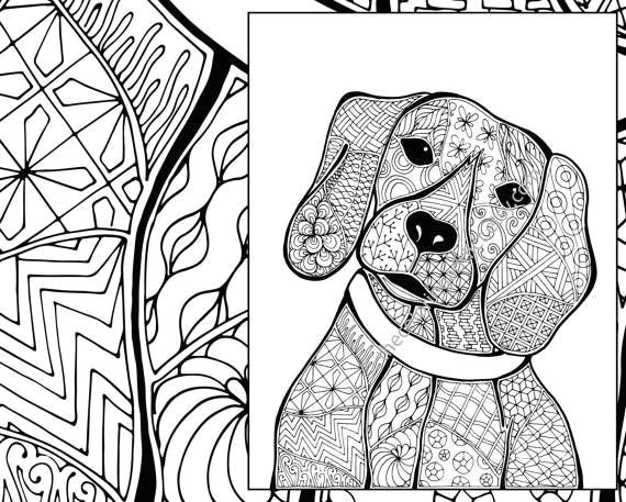 beagle coloring pages fresh zentangle dog colouring page animal colouring zentangle coloring of beagle coloring pages
