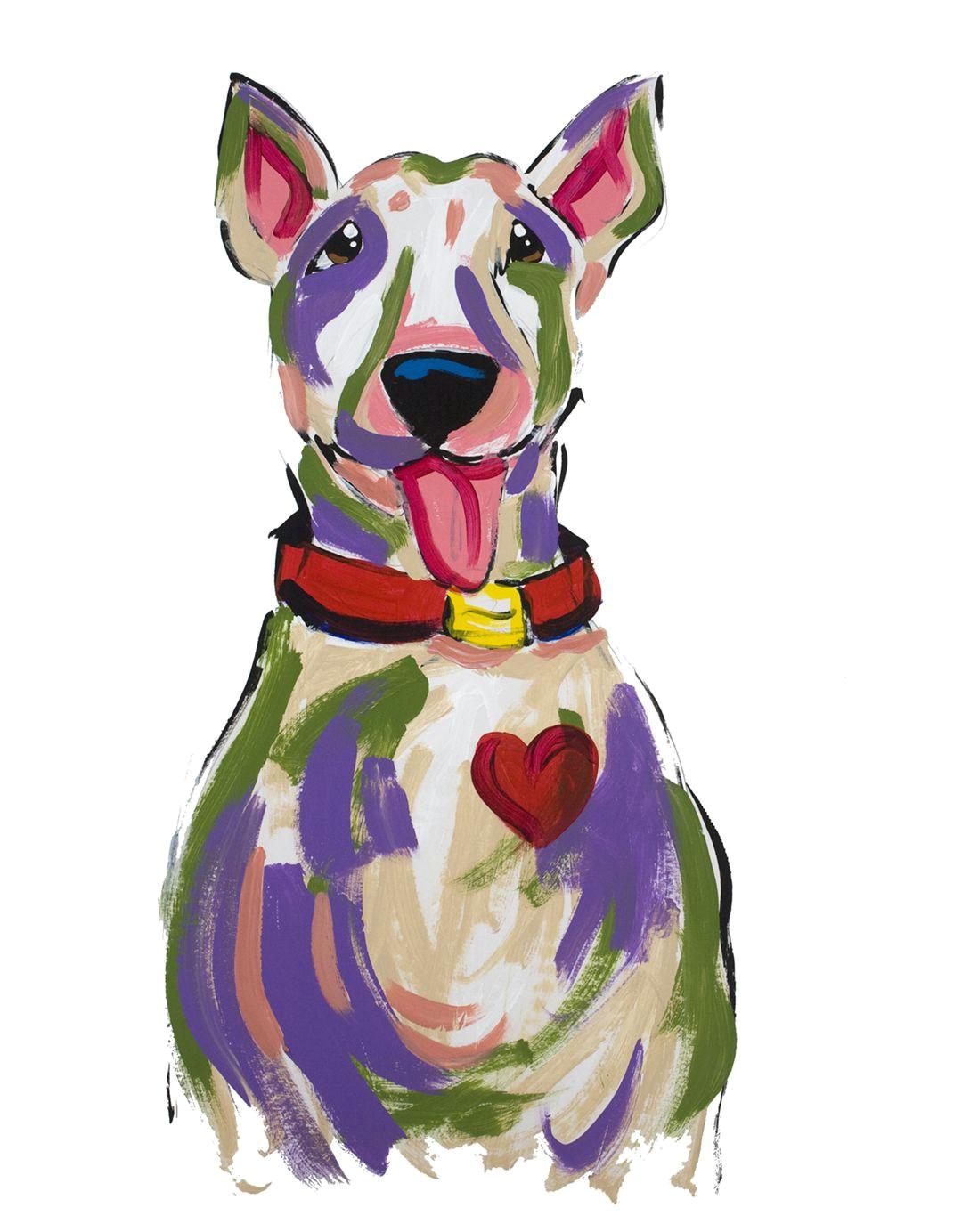 pit bull terrier love dog chopsitz painting by debby carman www fauxpawproductions com www faux paw com
