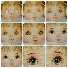 photo eye paintingdoll