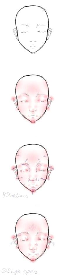 face blushing tutorial by niuky deviantart com on deviantart clay dolls bjd