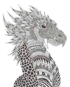 zentangle dragon yahoo image search results zen stricheleien kritzelkunst zeichentechniken malbucher fur