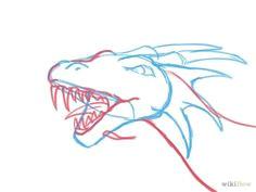 draw a dragon head