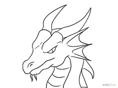 how to draw a dragon head 21 steps with pictures wikihow simple