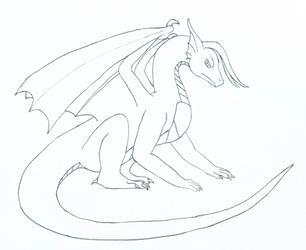 lovenanaki 1 1 sitting dragon by lovenanaki