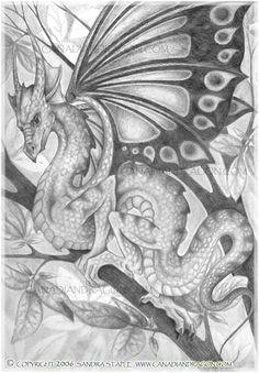 by sandra staple fantasy dragon dragon art fantasy art dragon tales blue