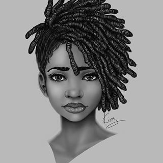 i found a 3 year old sketch and decided to work on it some more sketch illustration illustrator myart art sketchbook instaart instagood blackart