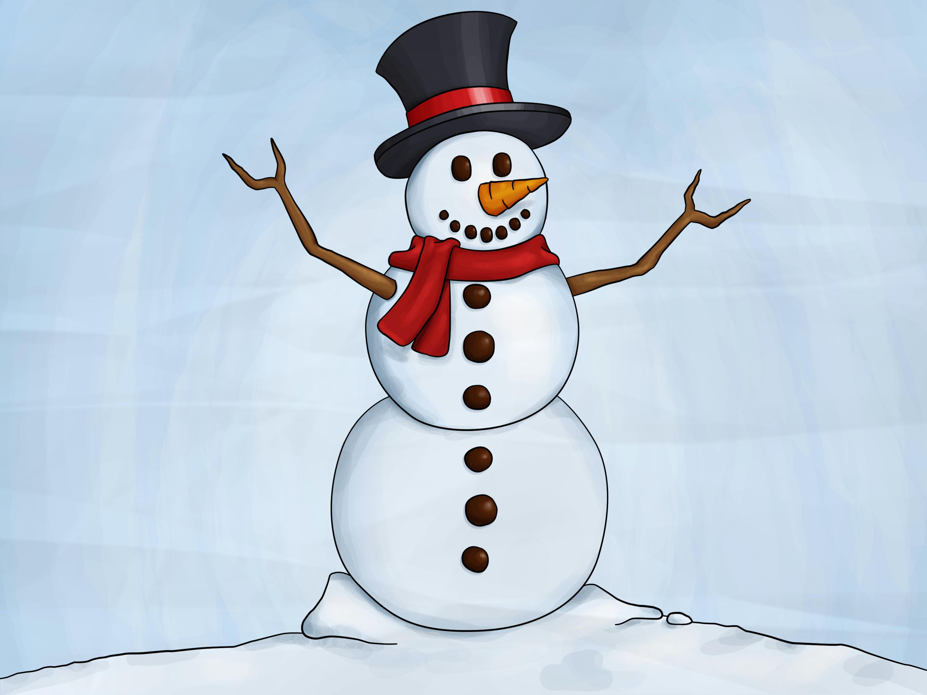draw a snowman step 8 jpg