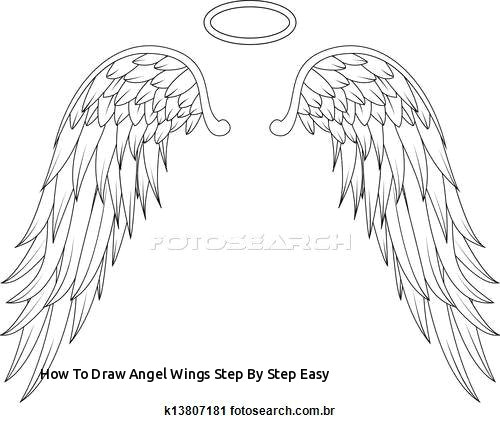 how to draw angel wings step by step easy angel wings stock illustrations 4840 angel wings